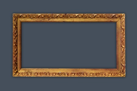matted: vintage picture frame, gold plated