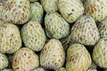 chirimoya: Flan de manzana en el mercado