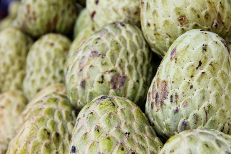 custard apple: Custard apple in market Stock Photo