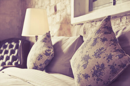 pattern bed: Pillows on an antique luxury bed