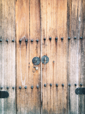 old wooden door: Old wooden door of a house in Korea.