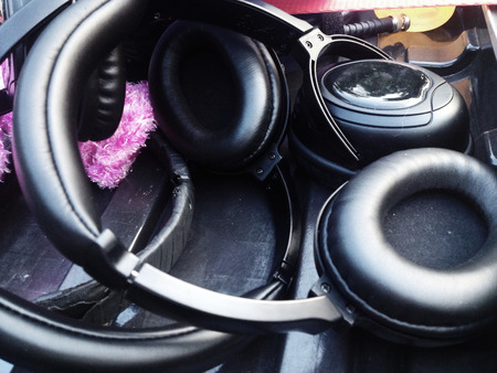 film crew: Headphones for Sound Recorder, professional film crew production