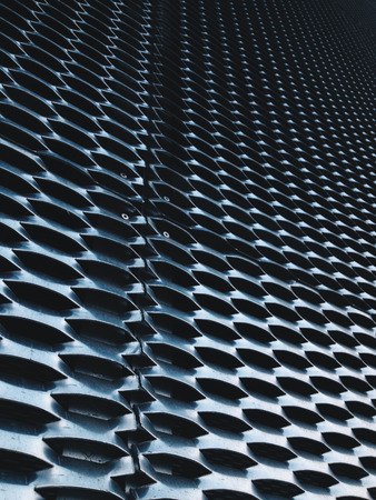 close up of expanded metal for Decoration, architecture and building Stock Photo