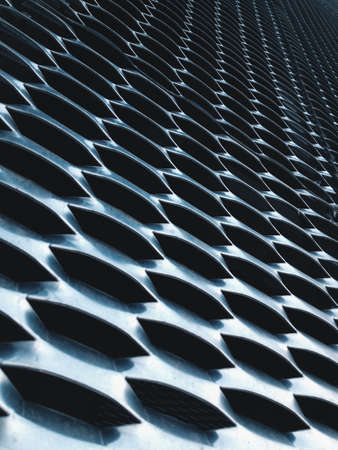 deflection: close up of expanded metal for Decoration, architecture and building Stock Photo