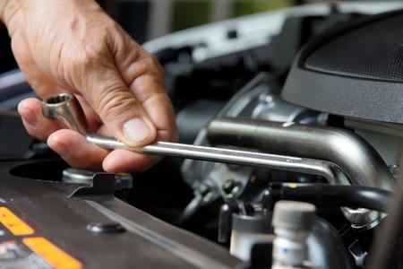 garage automobile: notion de r�paration automobile Banque d'images