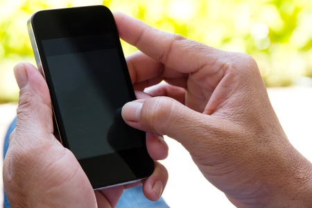 mobile phone adult: Man checking his phone background
