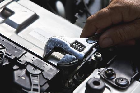 auto repair: Professional car mechanic auto repair concept