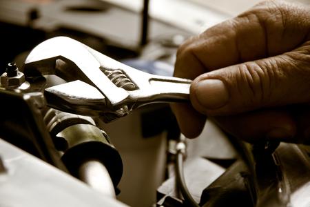 auto repair: Auto repair concept Stock Photo