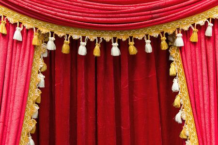 cortinas rojas: cortinas rojas etapa del teatro