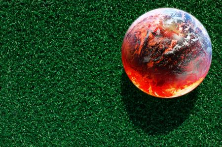 wereldbol: abstract beeld van de opwarming van de aarde concept Elementen van deze afbeelding geleverd door NASA