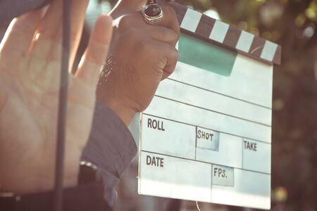 film: Film Slate,behind the scene, film crew production set