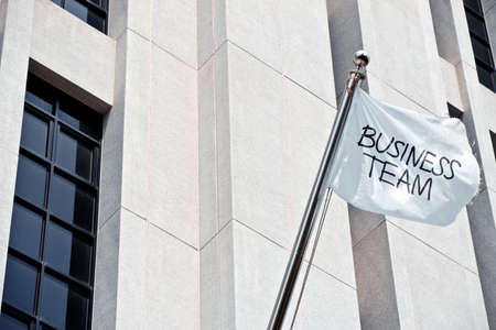 incentives: image of start up business concept, business team flag
