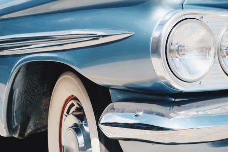 vintage car: Vintage Car Side Background
