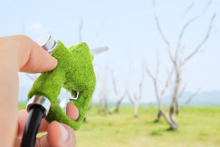 green fuel: green fuel nozzle, eco energy concept
