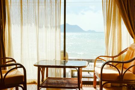 Tropical Seaview Through Window