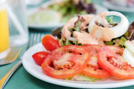break fast: break fast,salad Stock Photo