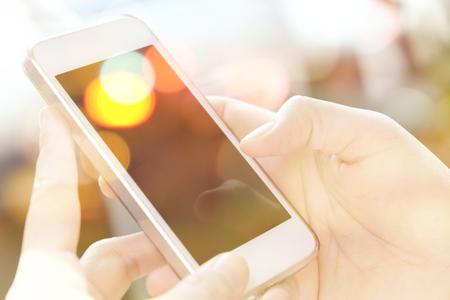 multiple exposure: Multiple exposure of smart phone and Bokeh
