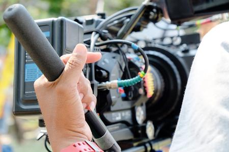 Cameraman at work,Professional digital video camera