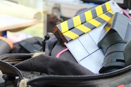 filming: behind the scene,Film Slate on set