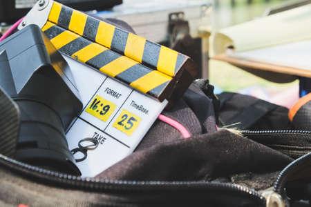 entertainment equipment: behind the scene,Film Slate on set