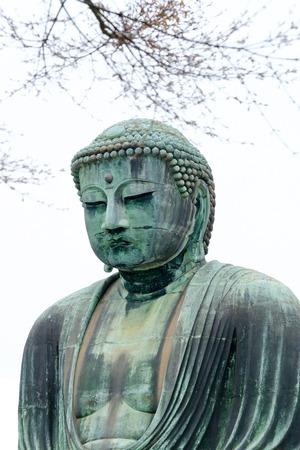 kamakura: The Great Buddha of Kamakura (Daibutsu). Stock Photo