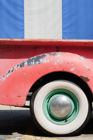 pickup truck: Image of Vintage Pick-up Truck Side Rear View Wheel