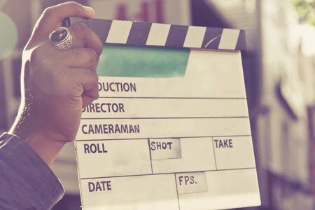 entertainment equipment: behind the scene, Film Slate on set