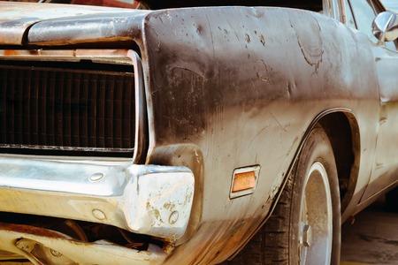 rusty car: Rusty wrecked car Stock Photo