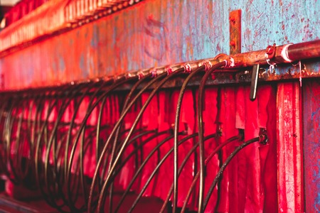 textile industry: Textile Industry,detail of Dyeing Machine Chemical Stock Photo