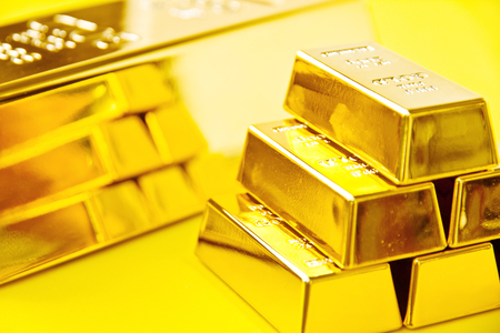 Gold bars, Financial, business investment concept