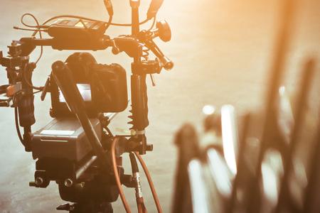 Détail de viseur de caméra vidéo, production de l'équipe de tournage, les coulisses Banque d'images - 83001976