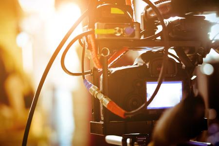 film crew: Filming with professional camera, Film Crew.