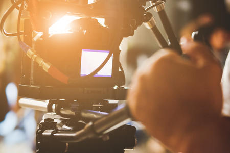 film crew: Filming with professional camer, Film Crew.