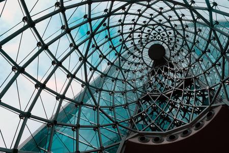 Imagen de detalle de la arquitectura moderna del edificio de vidrio