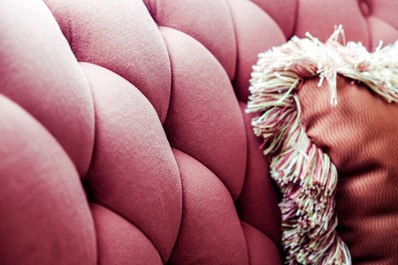Background of velvet sofa and cushions