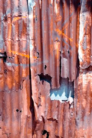 Old rusty galvanized background Stock Photo