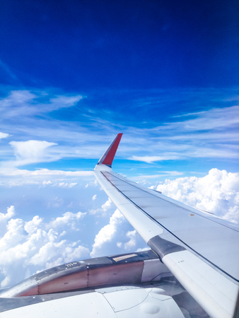 View from an airplane window background