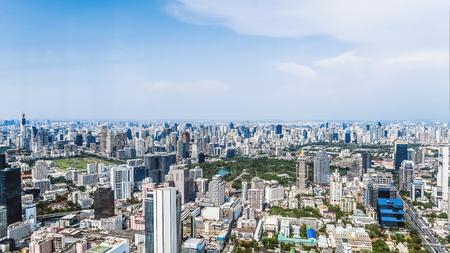Blick auf die Stadt Bangkok Standard-Bild