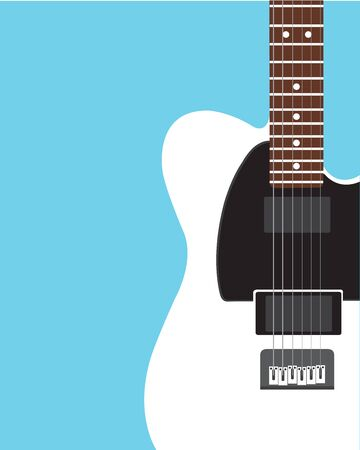 Electric guitar Flat design background