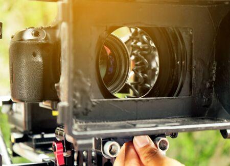 Professional camera equipment,Film production crew