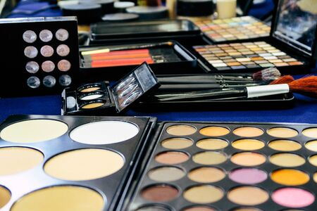 Makeup Kit Cosmetic Set, Eye shadow palette and brushes 写真素材