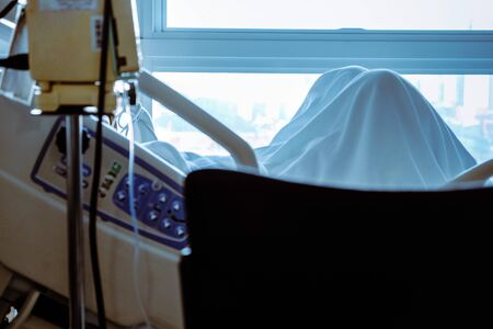 image of infusion pump with Elderly patients in hospital bed