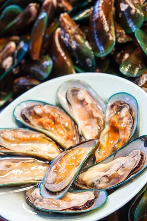 Mussel in the market Background