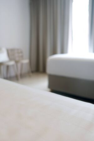 Blurred Background of a Bedroom in a hotel