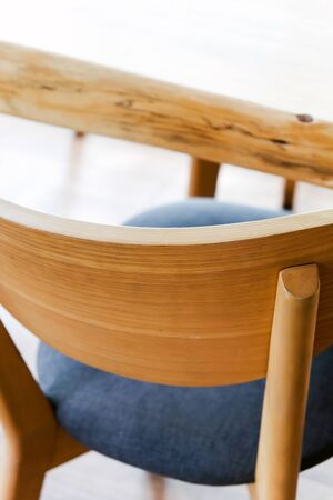 Detail of Cafe tables and chairs Stock Photo
