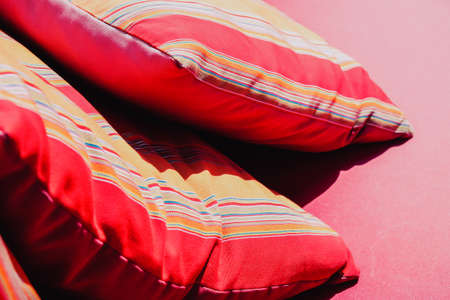 Image of Colorful Cushion In Sofa