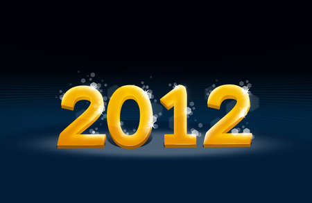 Year 2012 with stars Stock Photo - 10930247
