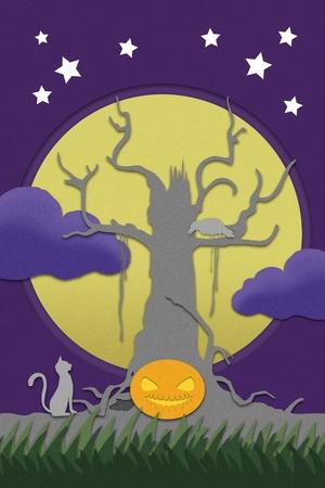 halloween night fullcolor photo