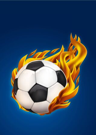 soccer on fire  photo
