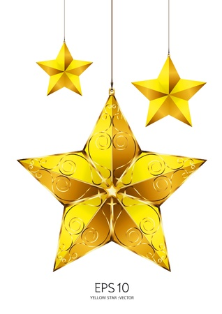 ornament  jewellery: yellow star  Illustration